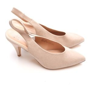 A New Day Pumps Shoes Womens 8.5 Beige Sling Back